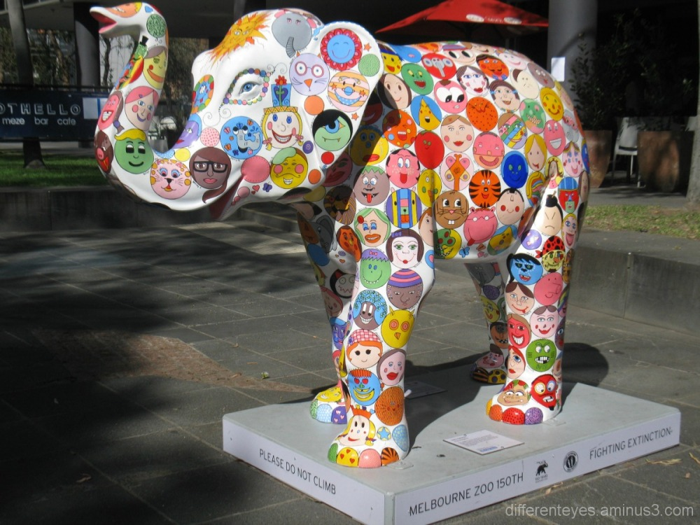 Melbourne Zoo elephant sculpture