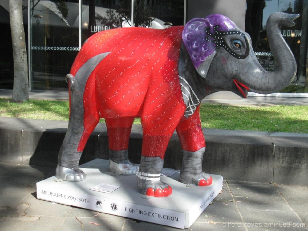 Melbourne Zoo elephant sculpture