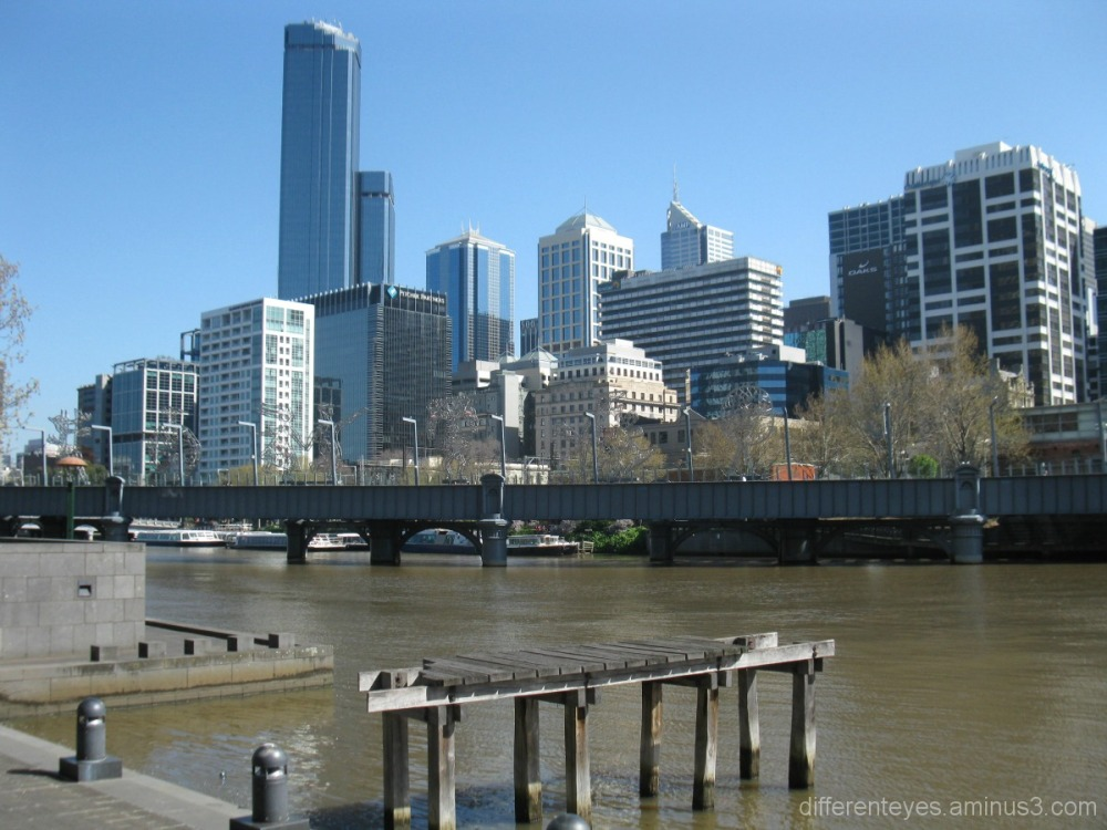 Melbourne skyline viewed from the Yarra River