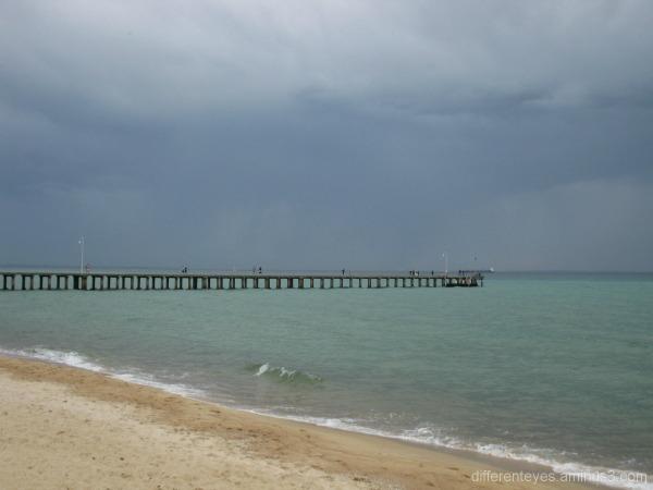 Dromana's distant pier, Port Phillip Bay