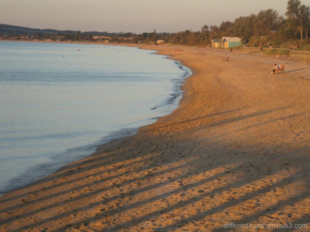 Summer evening light over Dromana beach