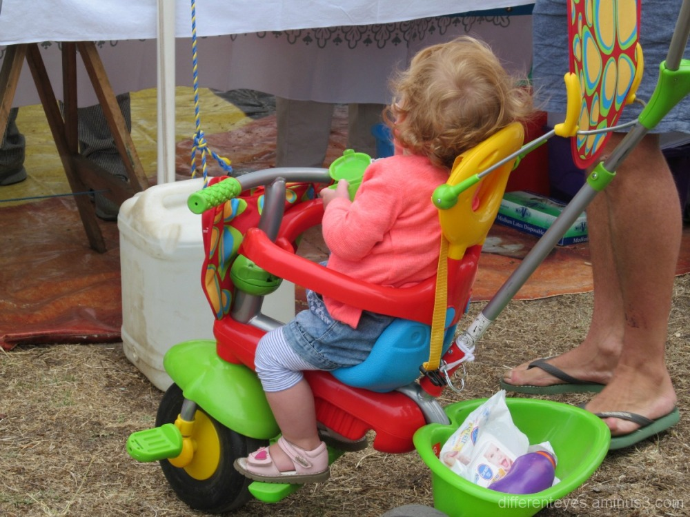 Colourful stroller and child in Dromana