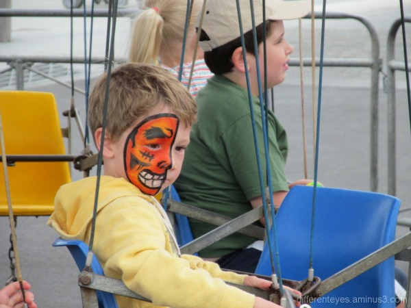 Child's painted face on Australia Day 2013 Dromana