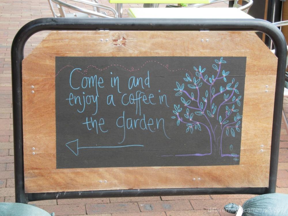 Coffee sign in Mornington street