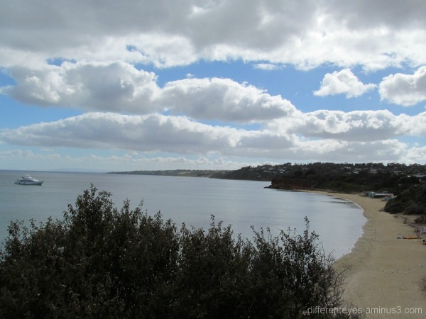 Port Phillip Bay view from Schnapper Point cliff
