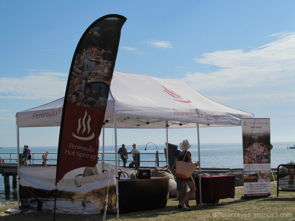 Peninsula Springs tent at Rosebud Kite Festival