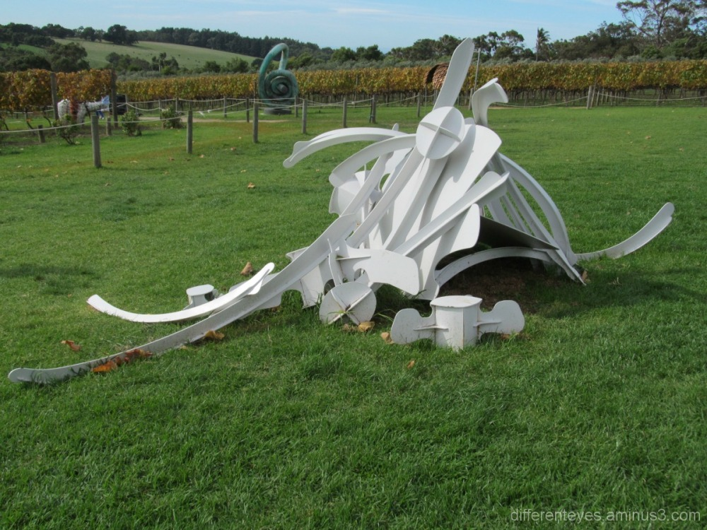 Sculpture at Montalto vineyard