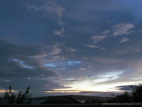 Winter skies in Dromana