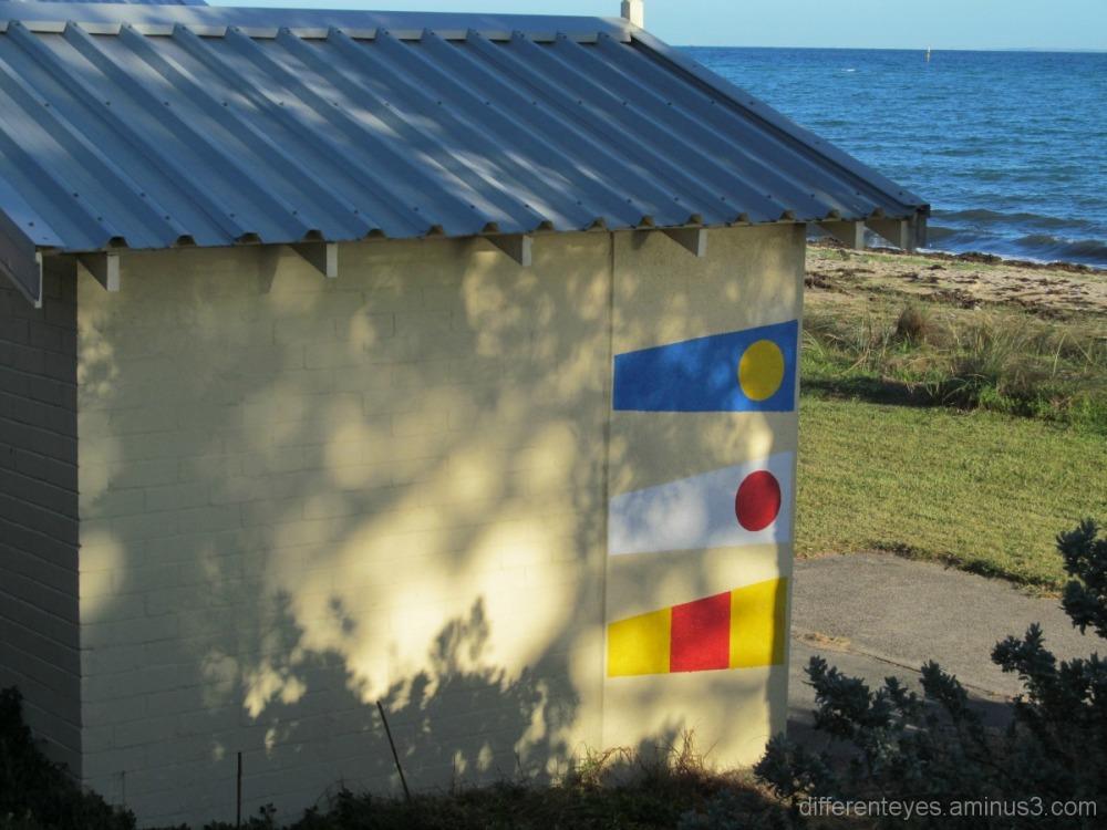 Winter shadows round Dromana beach