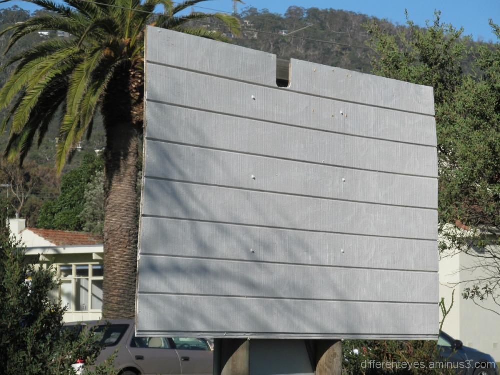 Blank signboard at Dromana beach