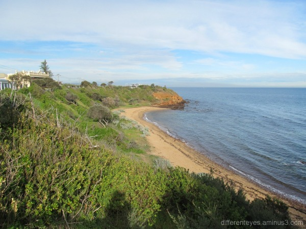 Winter view of a Mornington beach,Port Phillip Bay