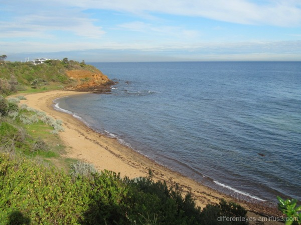 Winter view of a Mornington beach,Port Phillip Bay