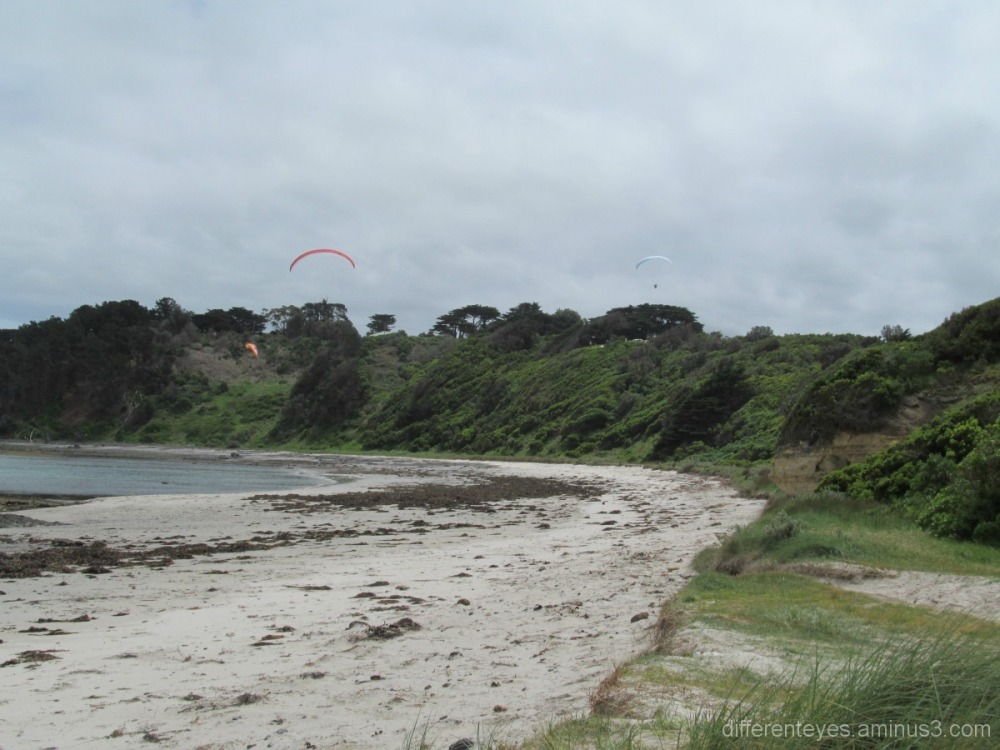 Flinders beach view and parasailing