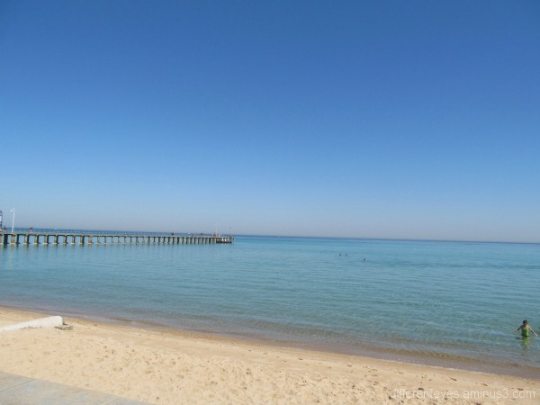 View of Port Phillip Bay from Dromana beach