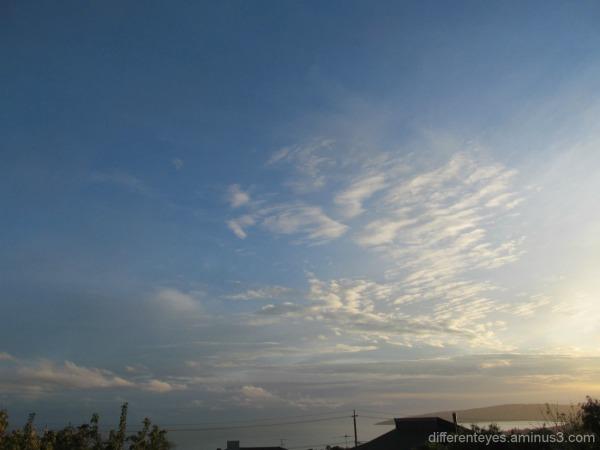 morning autumn skies