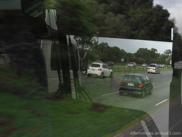 Melbourne freeway reflections