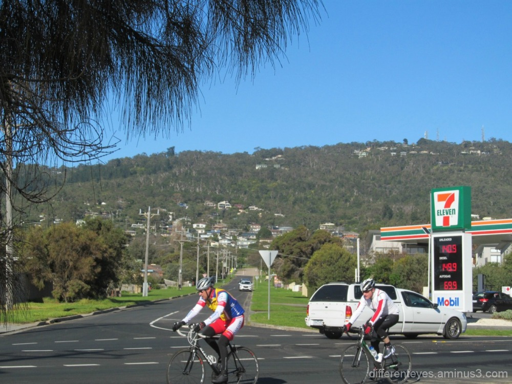 cyclists on Dromana road