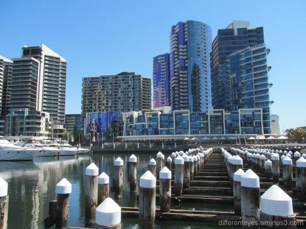Buildings overlooking Docklands in Melbourne