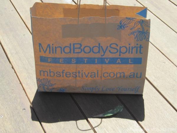 bag from Mind Body Spirit Festival in Melbourne