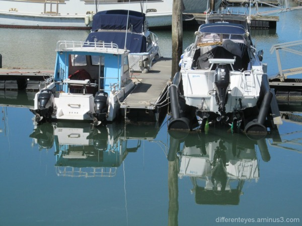 boat reflections at Hastings
