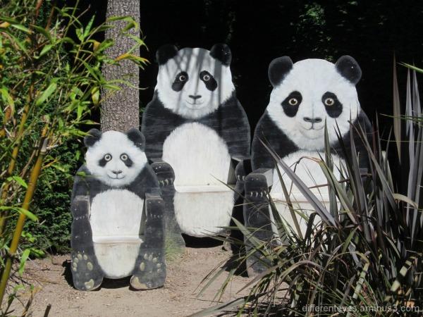 panda chairs at the Enchanted Adventure Garden