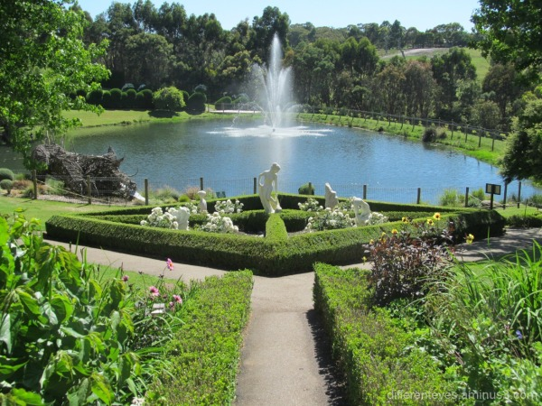 summer view of the Enchanted Maze Gardens