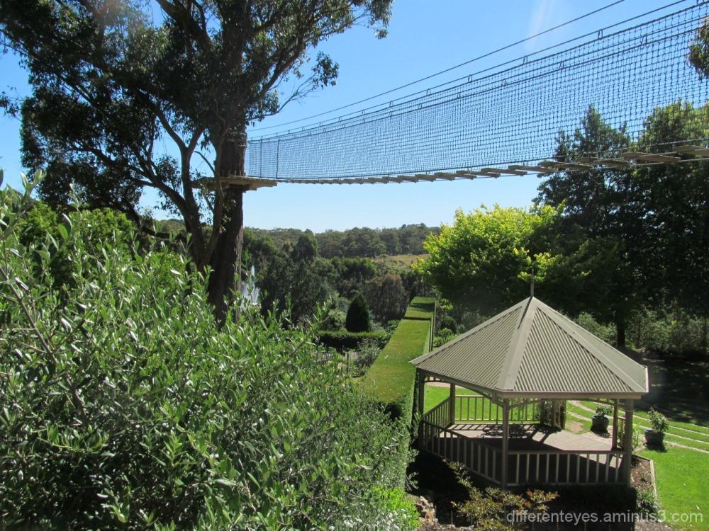 Enchanted Maze Garden view at Arthurs Seat