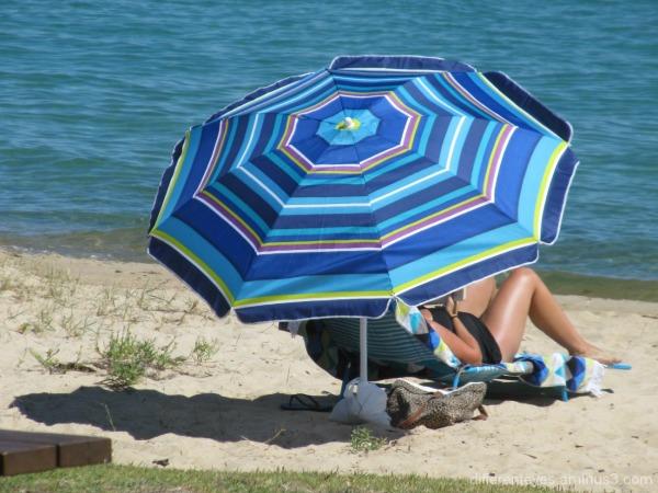 umbrella on Dromana beach