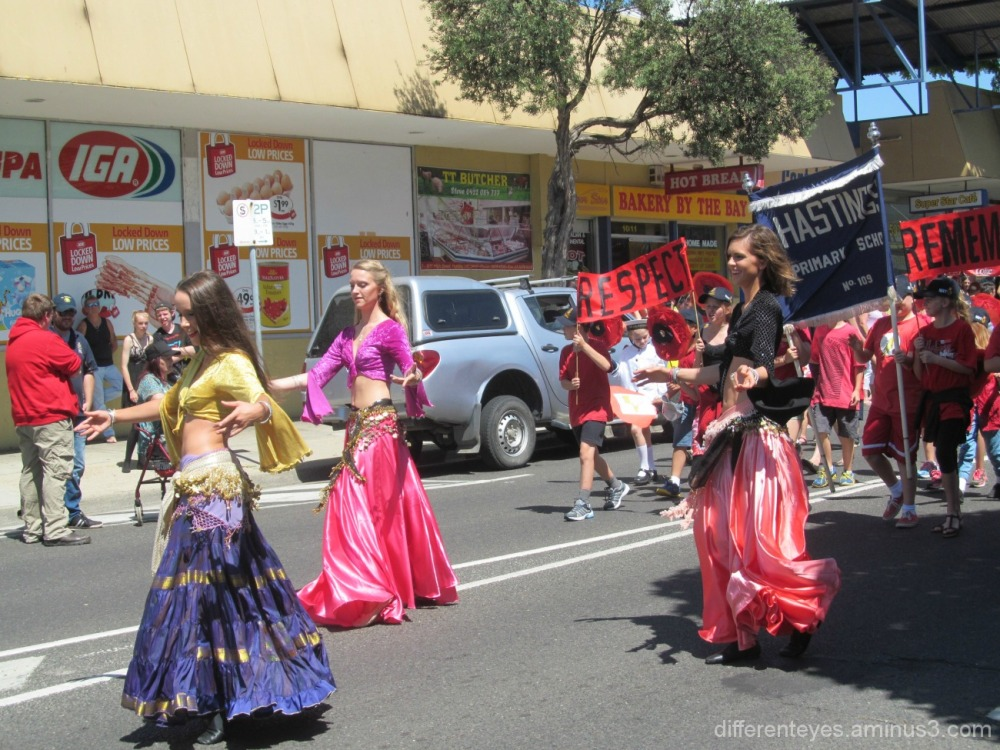 dancers in 2015 Westernport Festival at Hastings