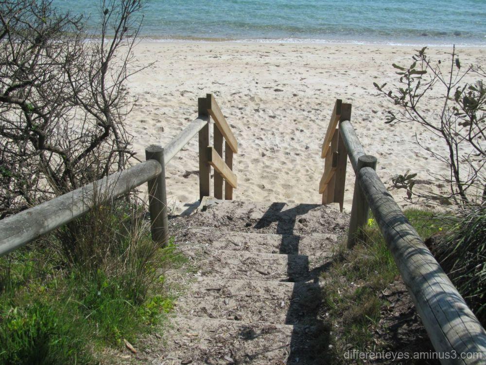 steps to Dromana beach