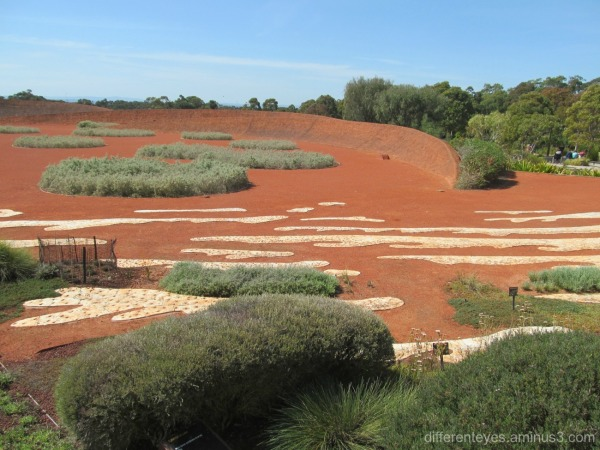 red sand garden at Cranbourne Botanical Gardens