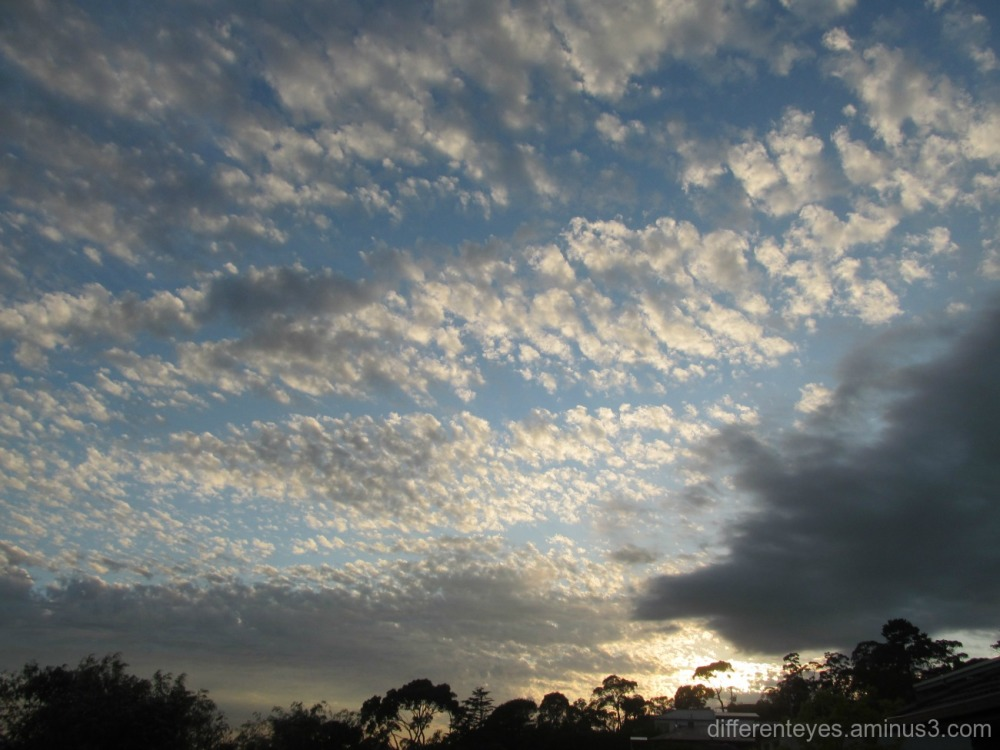 spring skies over the Dromana Hills...
