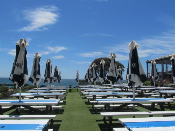 outdoor setting at Portsea Hotel