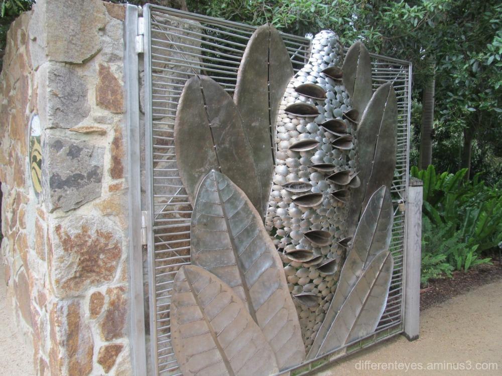 botanic garden gate at Frankston