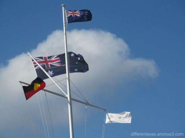Australia Day 2016 flags on the Dromana foreshore