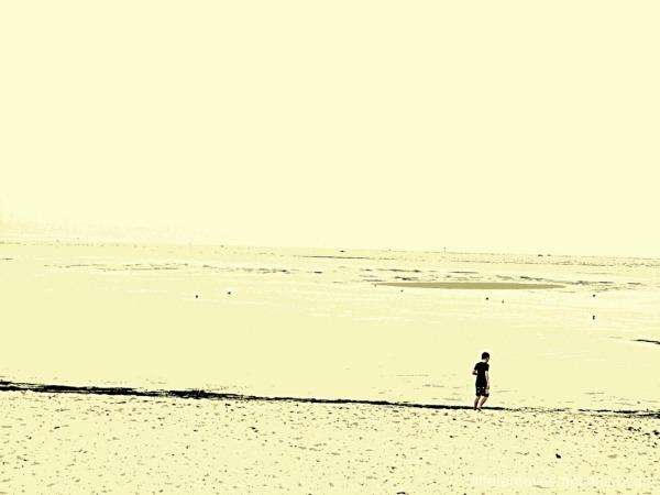 surreal view of Rosebud beach