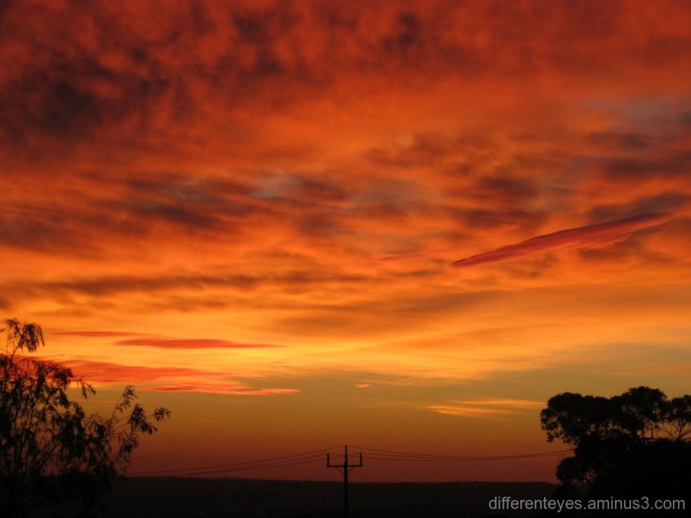 autumn skies in Dromana