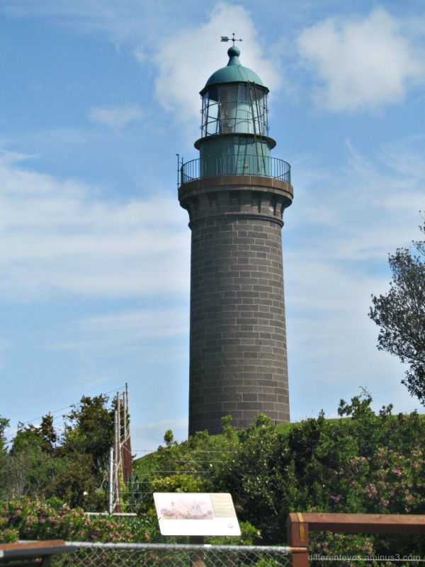 black lighthouse at Queenscliff