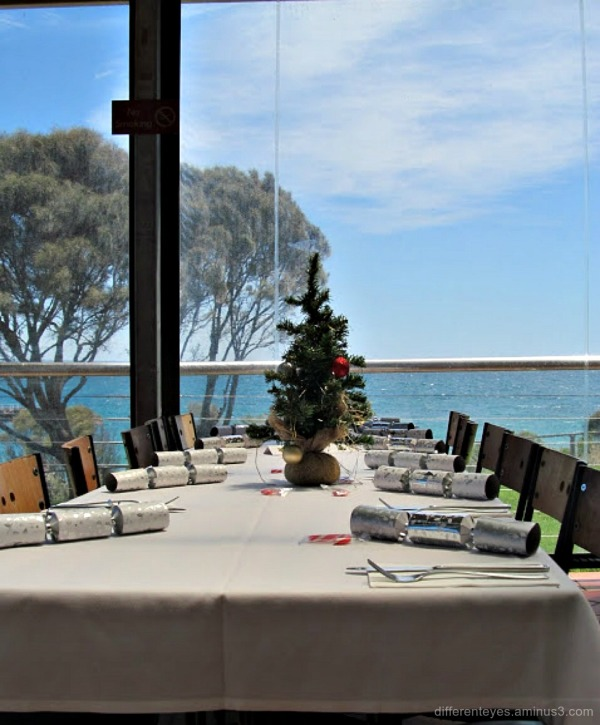 Christmas table at Portsea Hotel