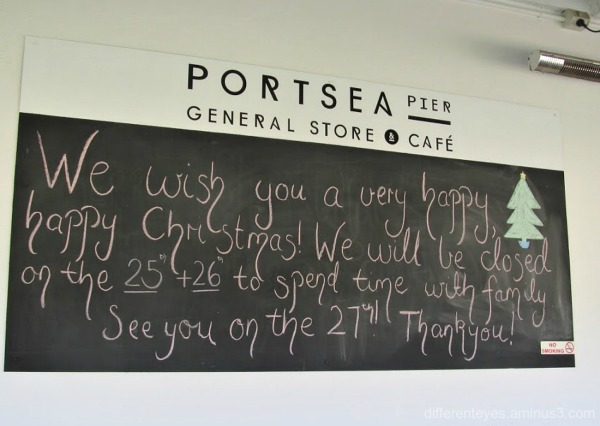 Christmas sign at Portsea