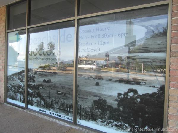Dromana shop window reflections
