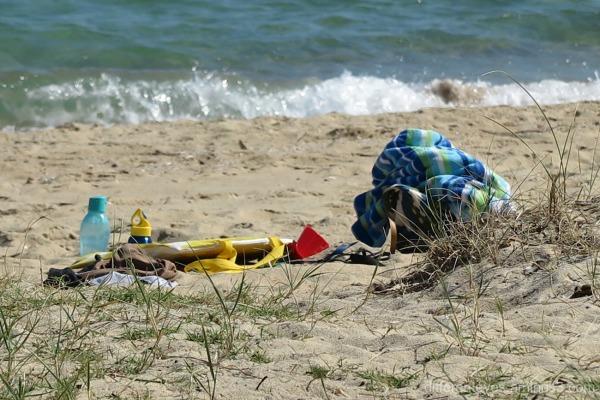 Beach gear on Dromana beach