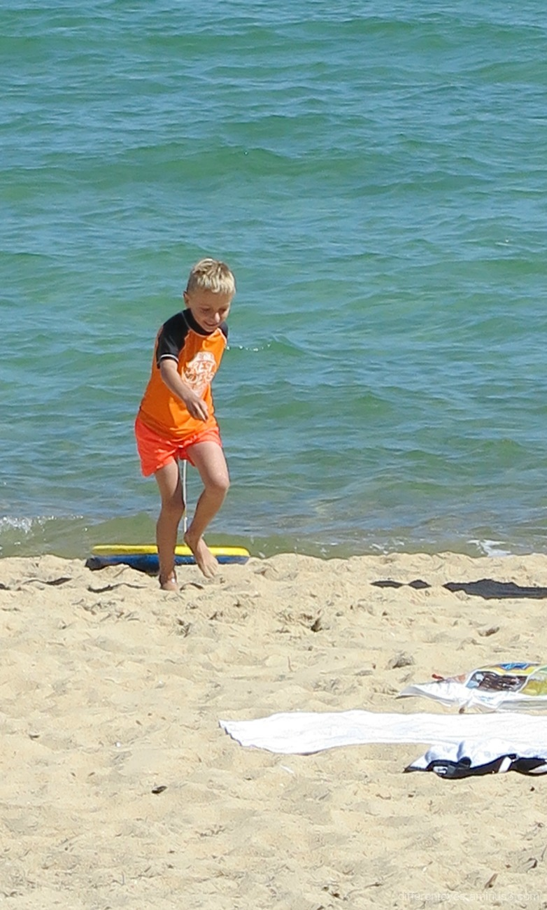 child at Dromana beach