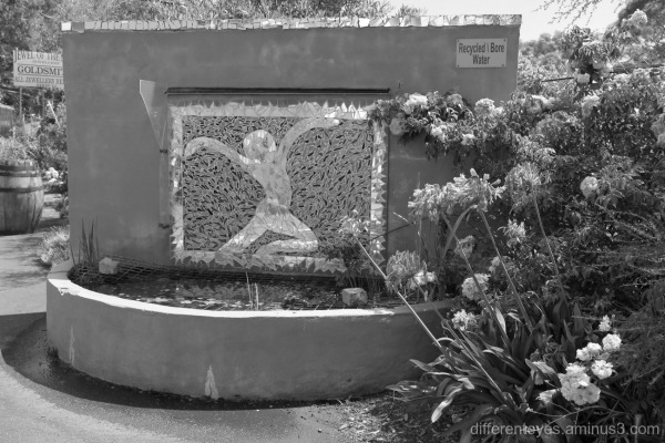 water feature at Tyabb Craft and Antique Village