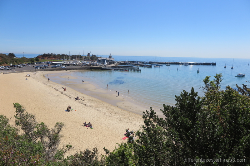 View of Mornington beach and pier