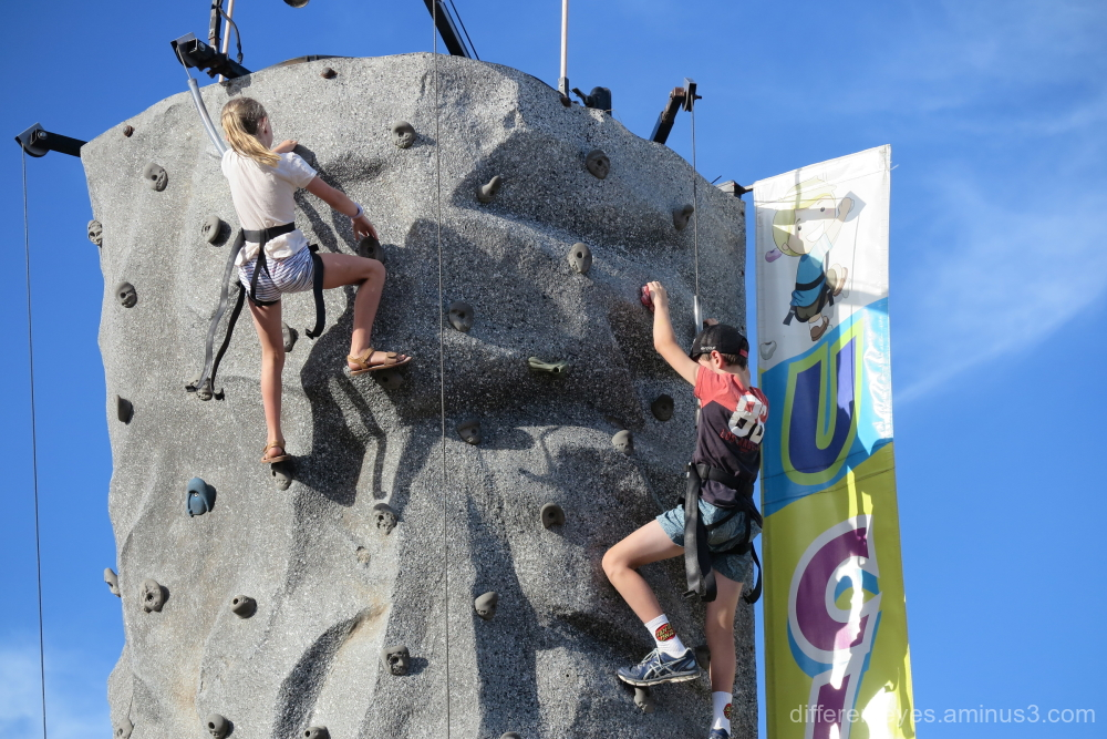 Climbing castle at Dromana's Australia Day 2019