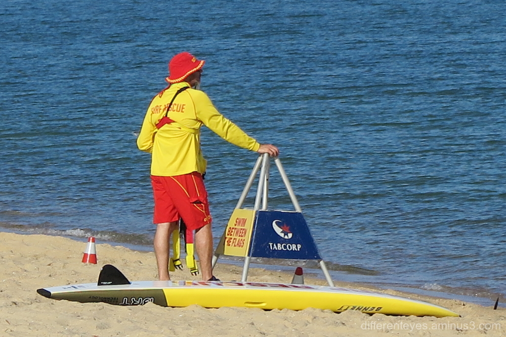Life saver at Australia Day 2019, Dromana
