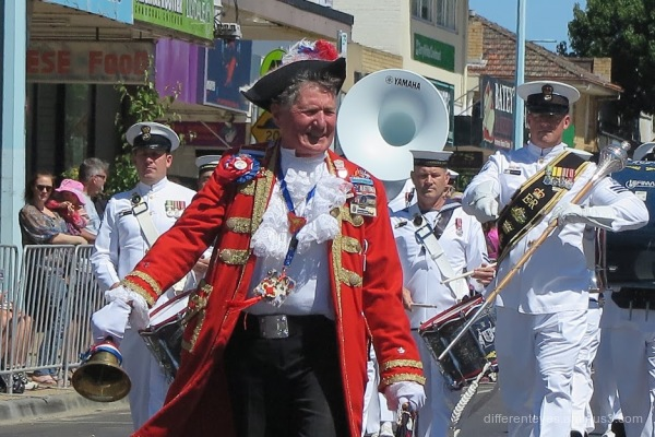 Town crier at Westernport Festival parade