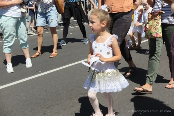 Young dancer in 50th Westernport Festival parade