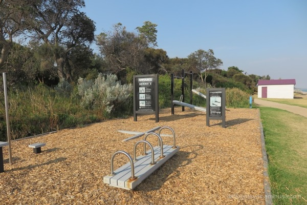 Dromana foreshore exercise area